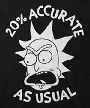 20% Accurate Rick and Morty T-Shirts