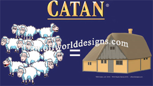 13 Sheep=Village Catan Shirt