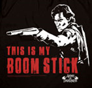 Army of Darkness Shirt Black Boomstick Shirt