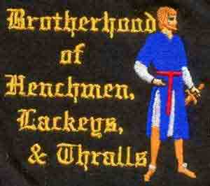 Embroidered Brotherhood of Henchmen, Lackeys & Thralls Golf Shir