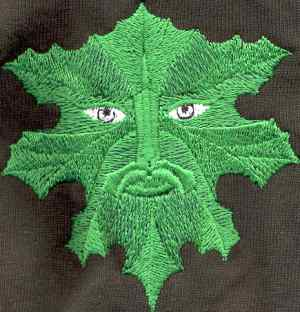Embroidered Green Man Shirt