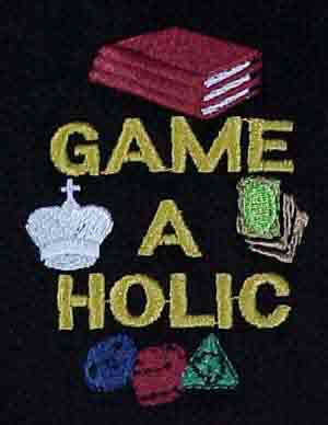 Embroidered Game-A-Holic Golf Shirt
