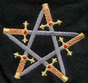 Embroidered Star of Swords Golf Shirt