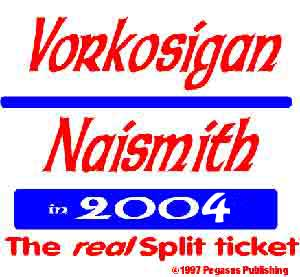 Vorkosigan/Naismith '04 T-Shirt 100% cotton.