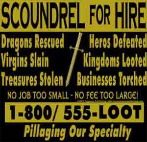 Scoundrel for Hire Shirt