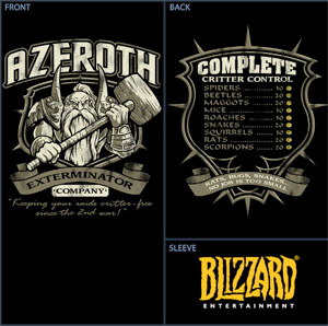 Azeroth Exterminators World of Warcraft T-Shirt