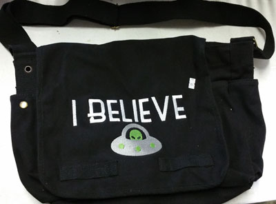 Believe UFO Messenger Bag