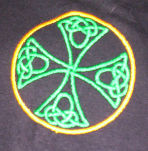 Celtic Cross Embroidered Polo