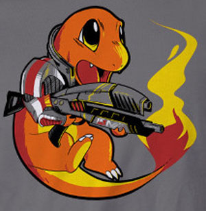 Charmander Shepherd T-Shirt