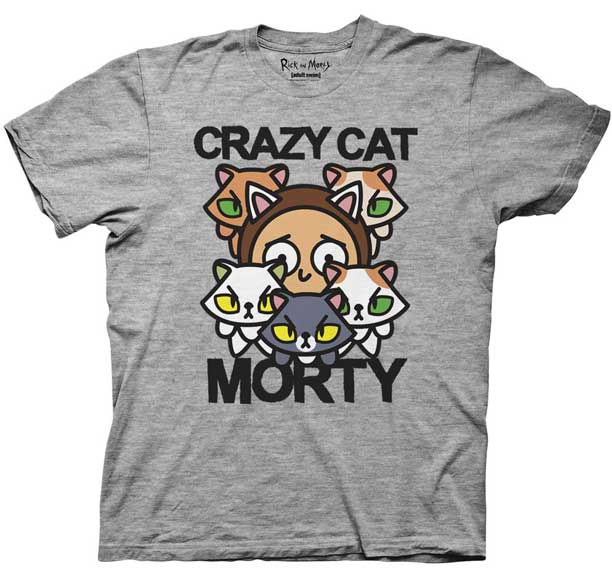 Crazy Cat Rick and Morty T-Shirts