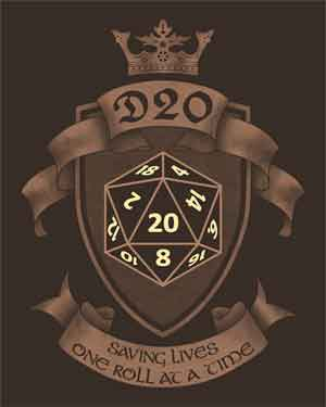 D20 Saving Lives One Roll at a Time Shirt