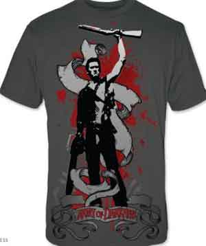 Army of Darkness Raised Boomstick Shirt