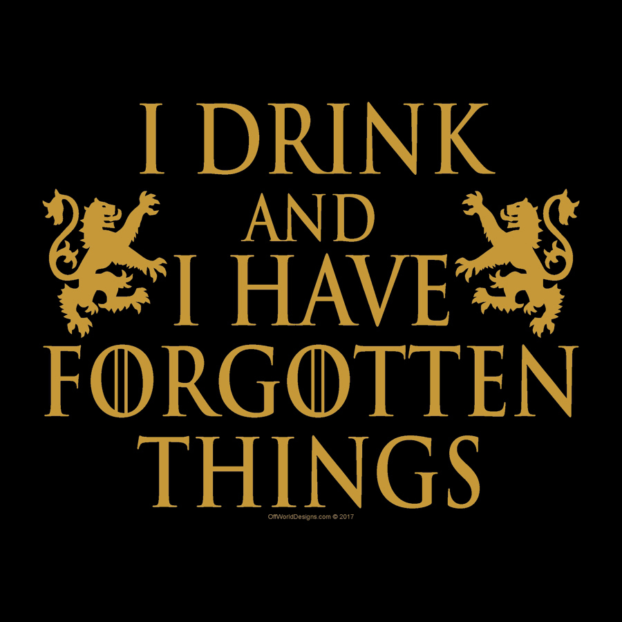 Drink and Forgotten Things