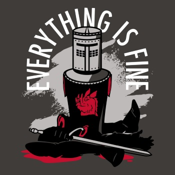 Everything Is Fine Black Knight T-Shirt