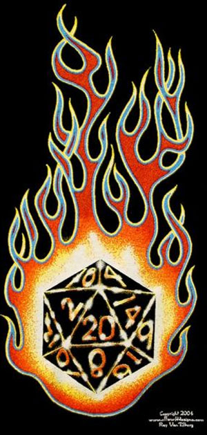 Flaming D20 Shirt