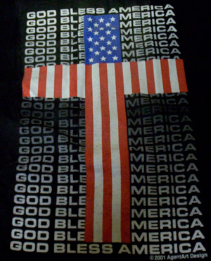 God Bless America Cross Shirt