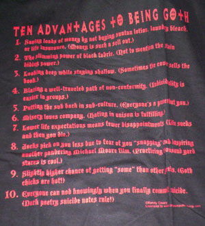 Goth Advantages Shirt