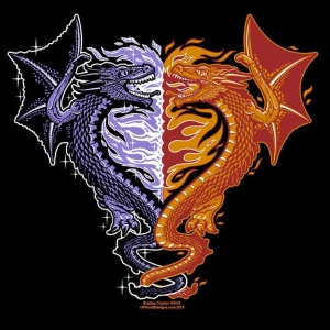 Ice and Fire Dragons T-Shirt