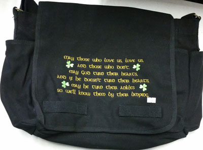 Irish Poem Messenger Bag