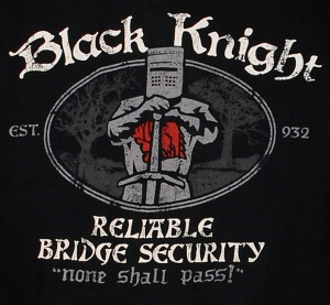 Black Knight Bridge Security T-Shirt