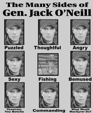 Many Sides of Gen. Jack O'Neill T-Shirt