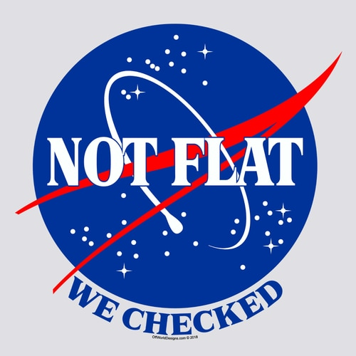 Not Flat T-Shirt - Click Image to Close