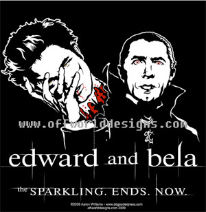 The Sparkling Ends Now - Edward and Bela Shirt