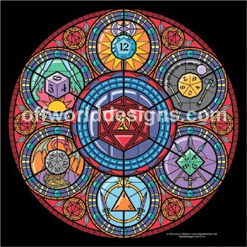 Stained Glass Dice T-Shirt