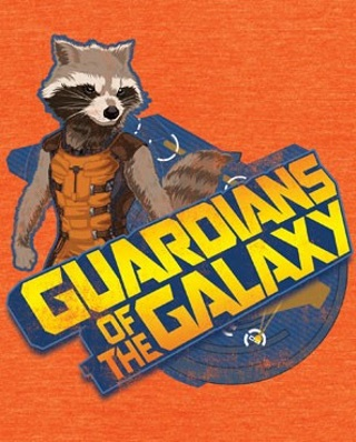 Rocket Raccoon Orange T-Shirt