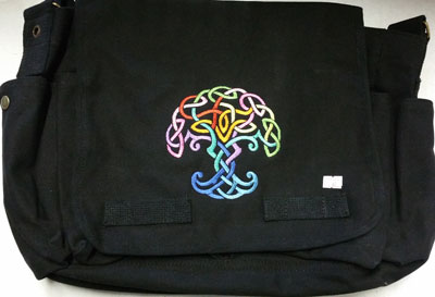 Rainbow Tree Messenger Bag