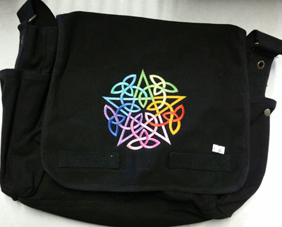 Rainbow Star Messenger Bag