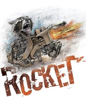 Rocket Raccoon White T-Shirt