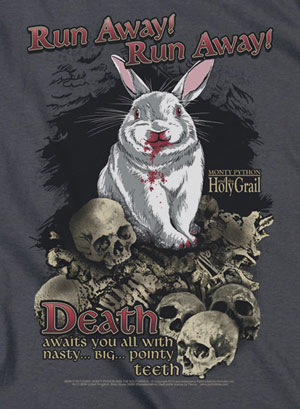 Run Away Death Bunny T-Shirt