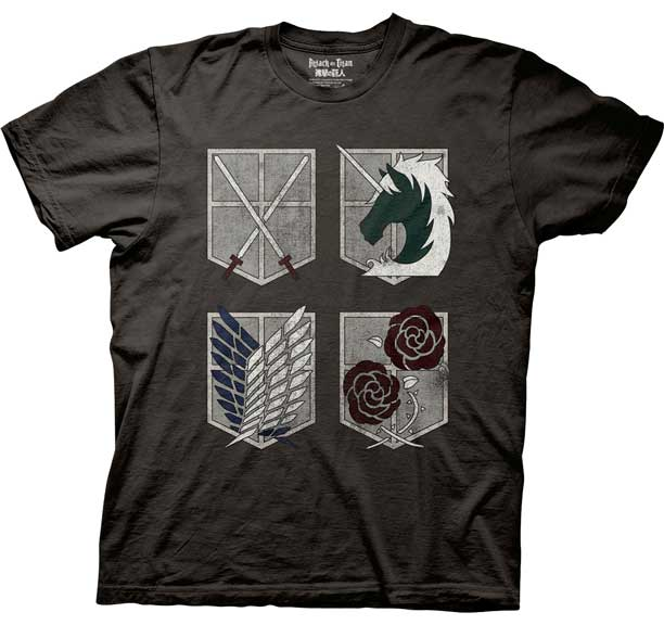 Attack on Titan Shield with Logo T-Shirt