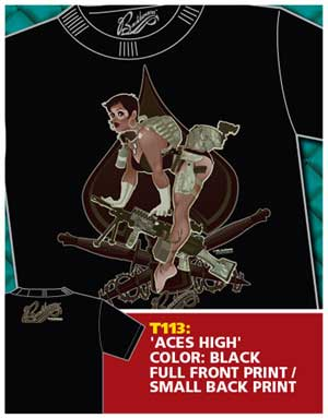 Aces High Pinup Shirt