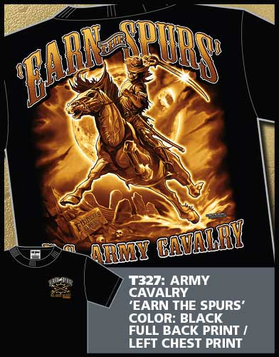 Earn the Spurs Army Cavalry Shirt