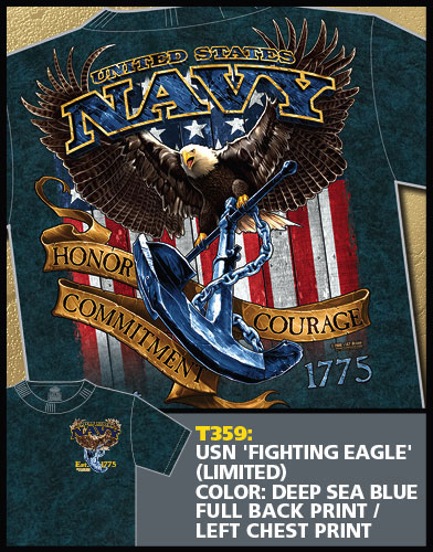 Navy Fighting Eagle Shirt