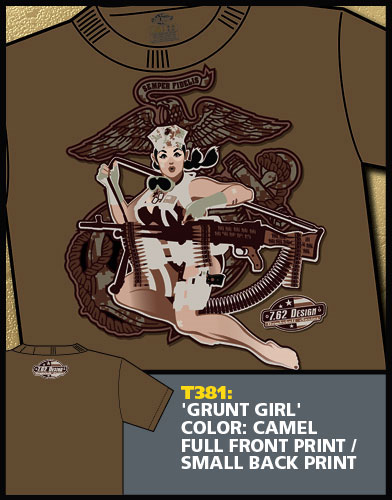 Grunt Girl Pinup Shirt