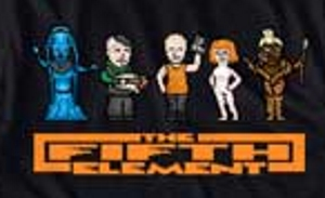 8Bit Cast Fifth Element T-Shirt