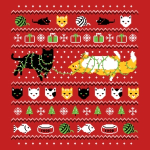 Ugly Cat Christmas T-Shirt