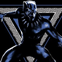 Black Panther Triangle T-Shirt