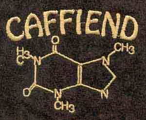 Caffiend Embroidered T-Shirt