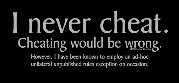 I Never Cheat Shirt