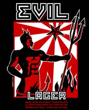 Evil Lager Shirt - Click Image to Close