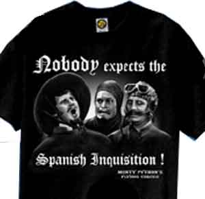Spanish Inquisition Monty Python Shirt