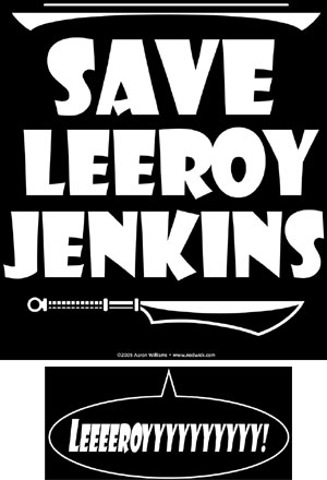 Save LeeRoy Jenkins Shirt