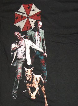 Resident Evil Zombie and Dog Shirt